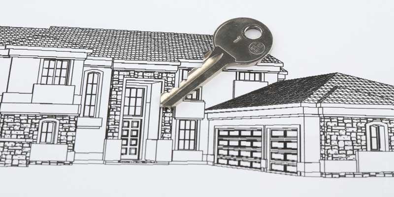 illustration d'un dessin d'une maison avec une clé dessus