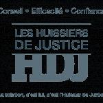logo de l'HDJ, les huissiers de justices. Conseil, efficacité et confiance