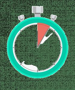 icône d'un chronomètre lancé