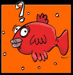 icône représentant un poisson rouge représentant l'oublie d'une dette pour un client. Profil négligeant