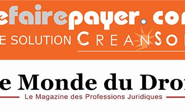 Interview de Yann Duchemin dans le Monde du Droit : l'acquisition de la plateforme Sefairepayer.com par CREANSOFT