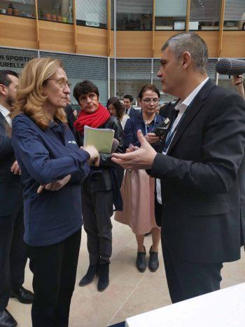 Yann Duchemin, le DG de CREANSOFT, et Madame la Ministre de la Justice Nicole Belloubet
