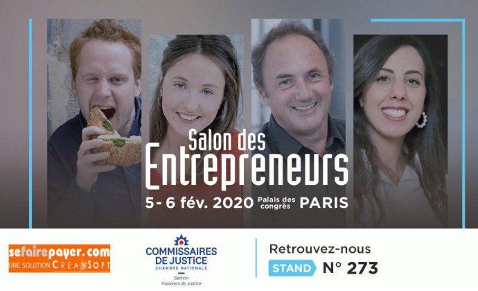Affiche du salon des entrepreneurs qui se tiendra à Paris le 5 et 6 février 2020